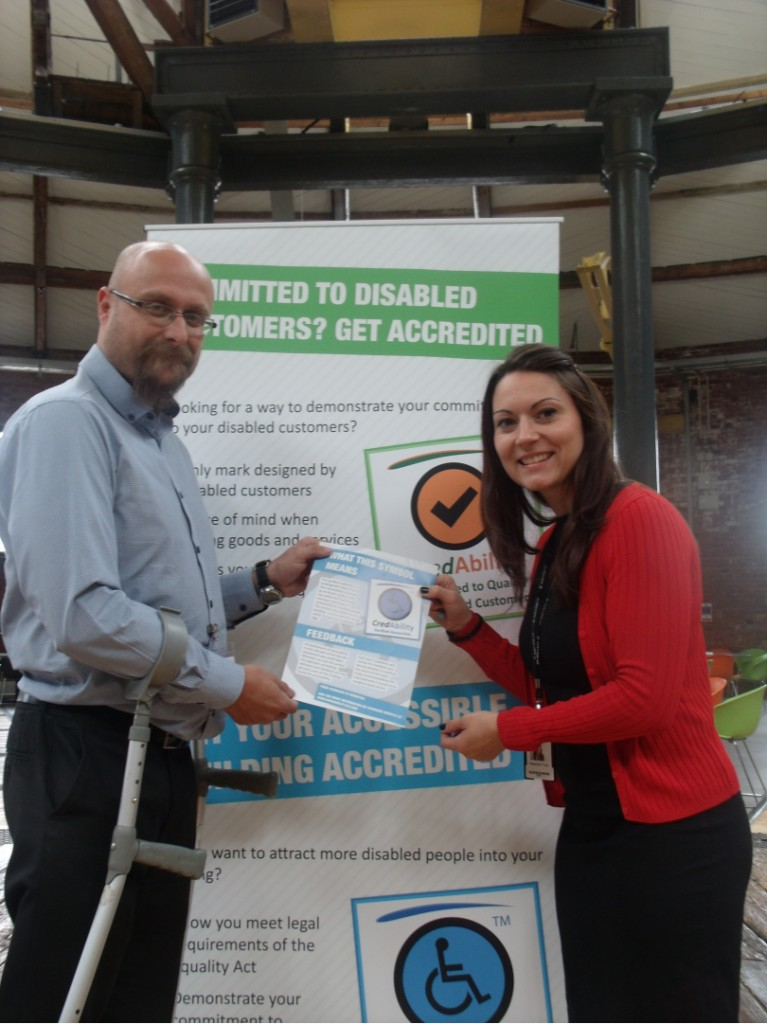 Martin Presents Rebekah from The Roundhouse with the Verified Access Customer Charter