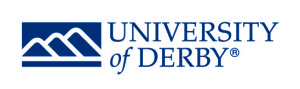 text logo of the university of derby