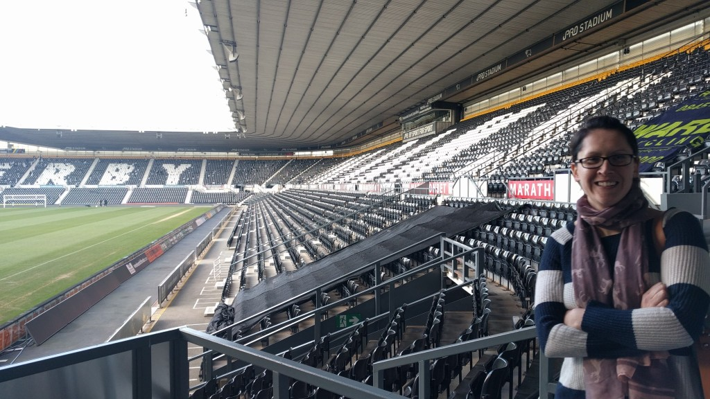 Lead Consultant Sally on a walk around The iPro Stadium