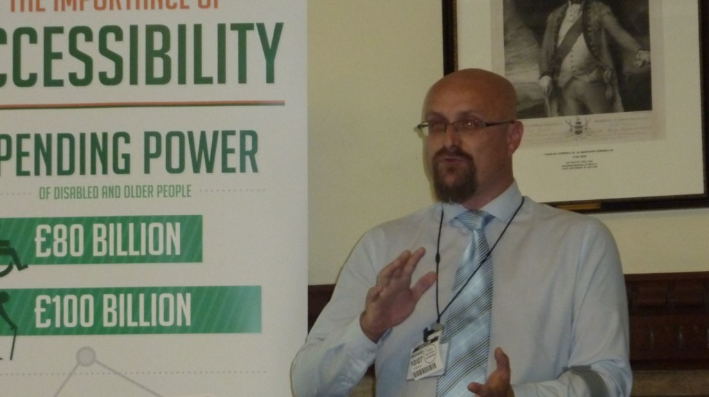 Martin speaking about the spending power of disabled people a the House of Commons
